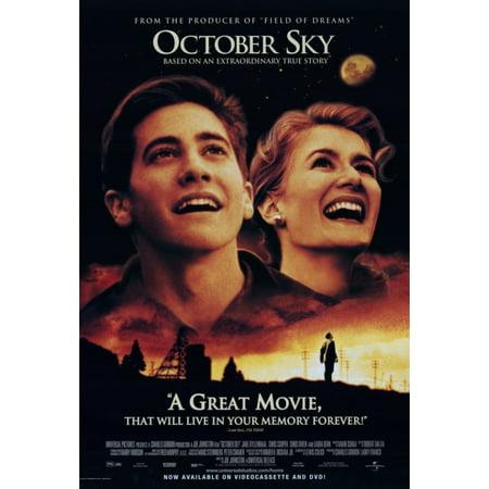 October Sky Movie Poster Print  27 X 40