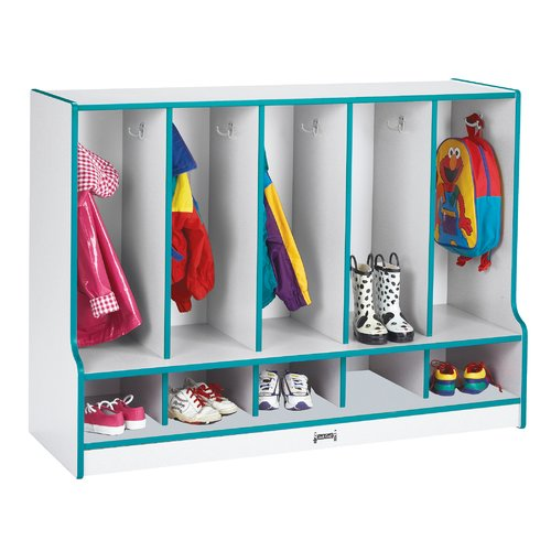 Jonti-Craft 2 Tier 5 Wide Coat Locker