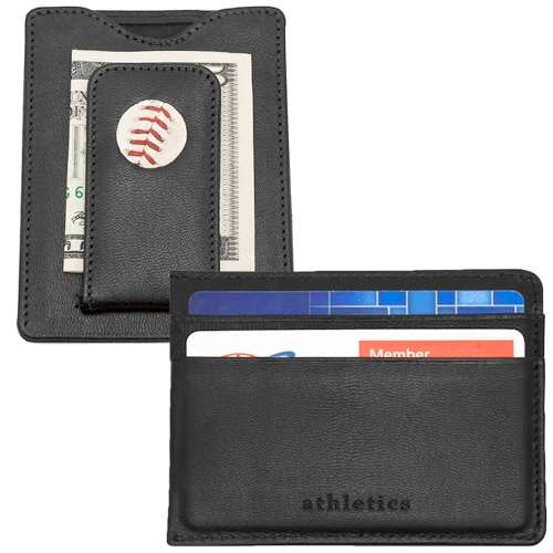Oakland Athletics Tokens & Icons Game-Used Baseball Wallet - No Size
