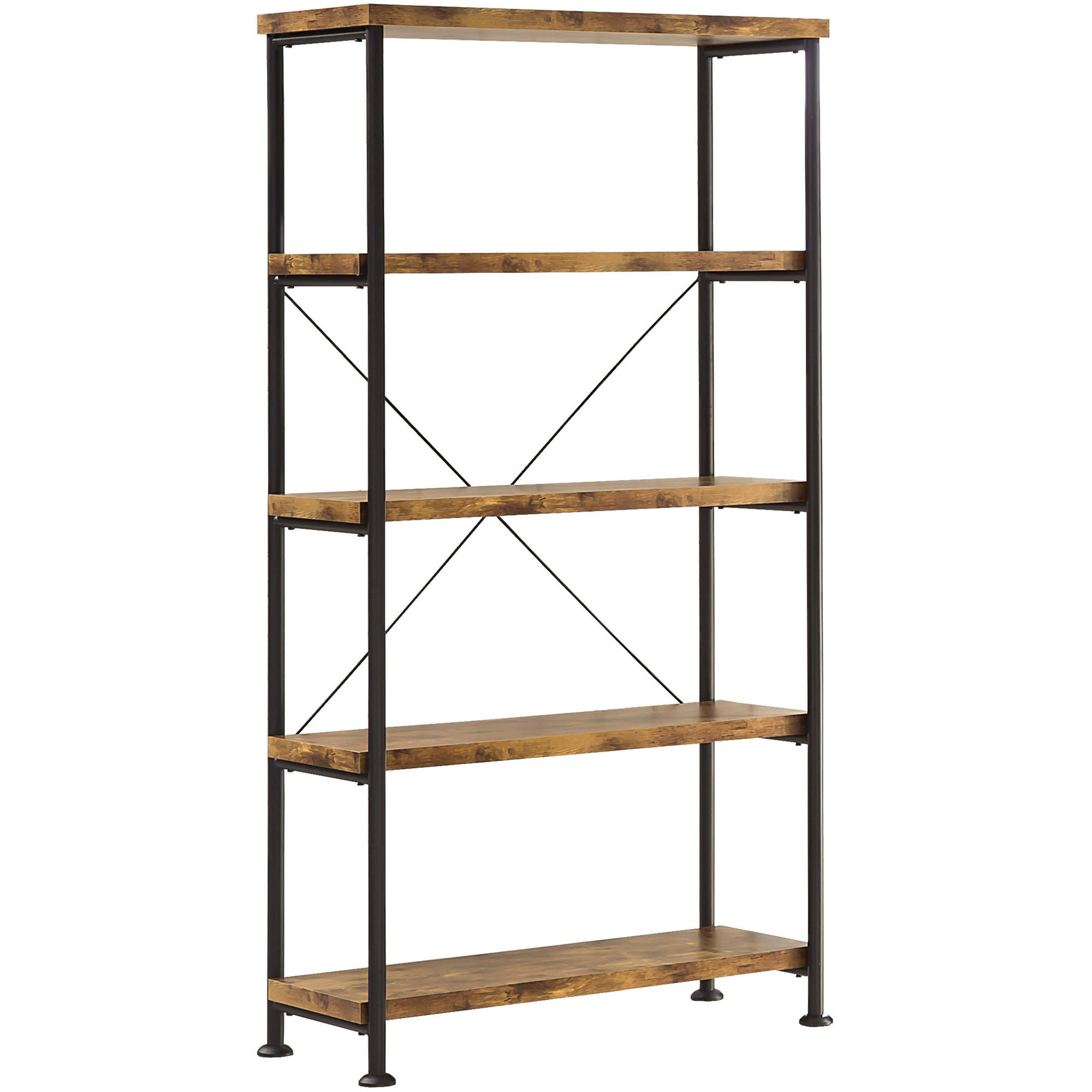 Coaster Company Bookcase, Antique Nutmeg, Black