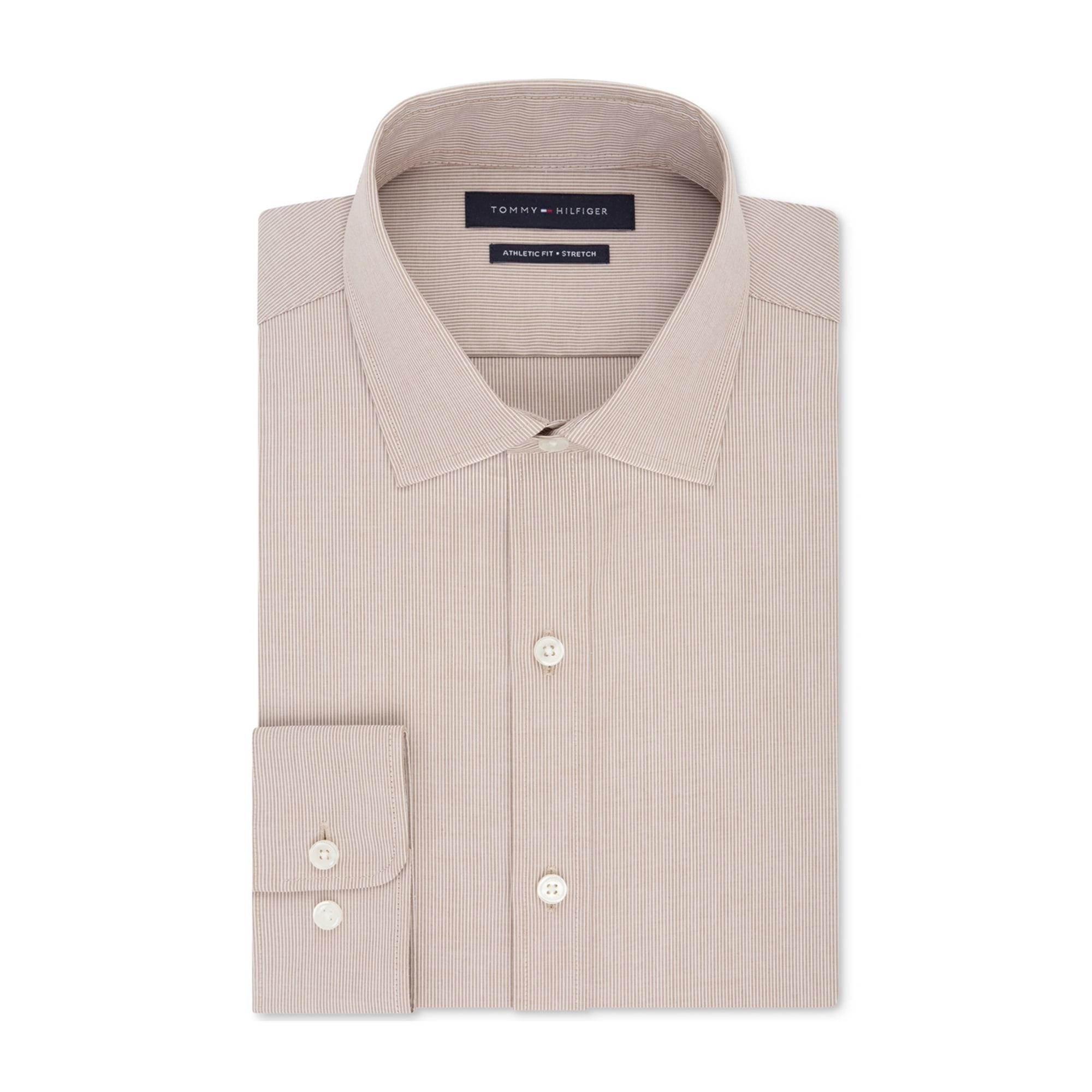 6ed4e999 Tommy Hilfiger Mens Fitted Performance Flex Button Up Dress Shirt pecan 15  1/2 | Walmart Canada