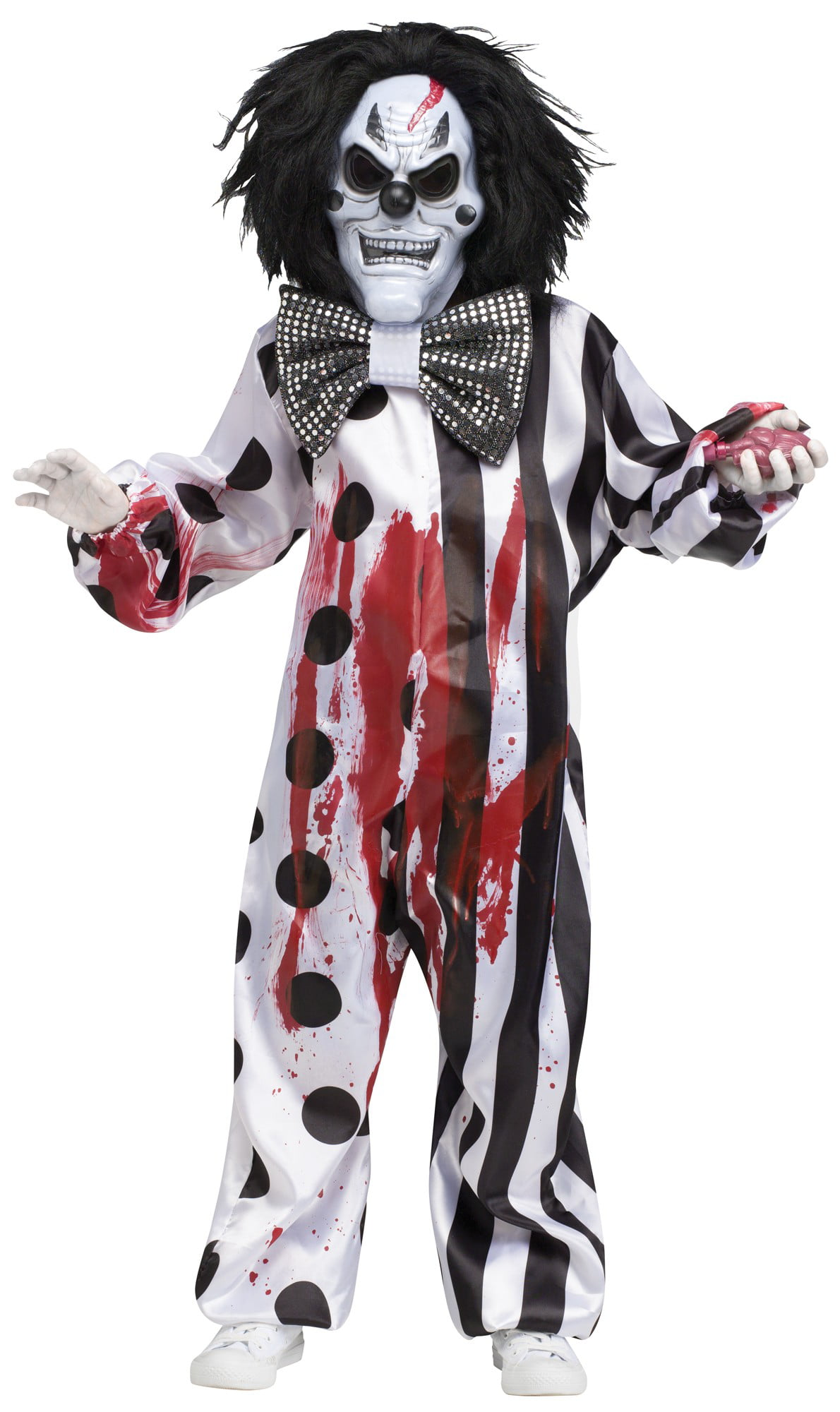 Killer Clown Halloween Costumes For Girls.Bleeding Killer Clown Child Costume Large