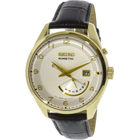 Men's SRN052 Gold Calf Skin Kinetic Dress Watch ()
