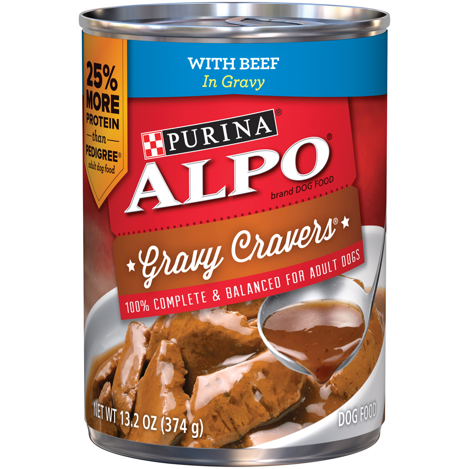 Purina ALPO Gravy Cravers With Beef in Gravy Dog Food Case of 12- 13.2 oz. Cans