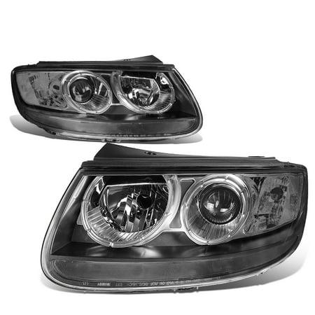 For 2007 to 2012 Hyundai Santa Fe Headlight Black Housing Clear Corner Headlamp 08 09 10 11 - 02 Hyundai Santa Fe Headlight