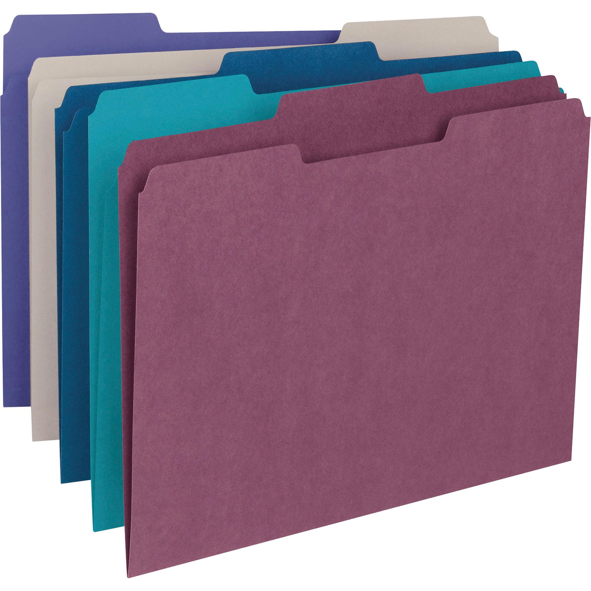 Red 1//3-Cut Tab 100 per Box 12743 Letter Size Smead File Folder