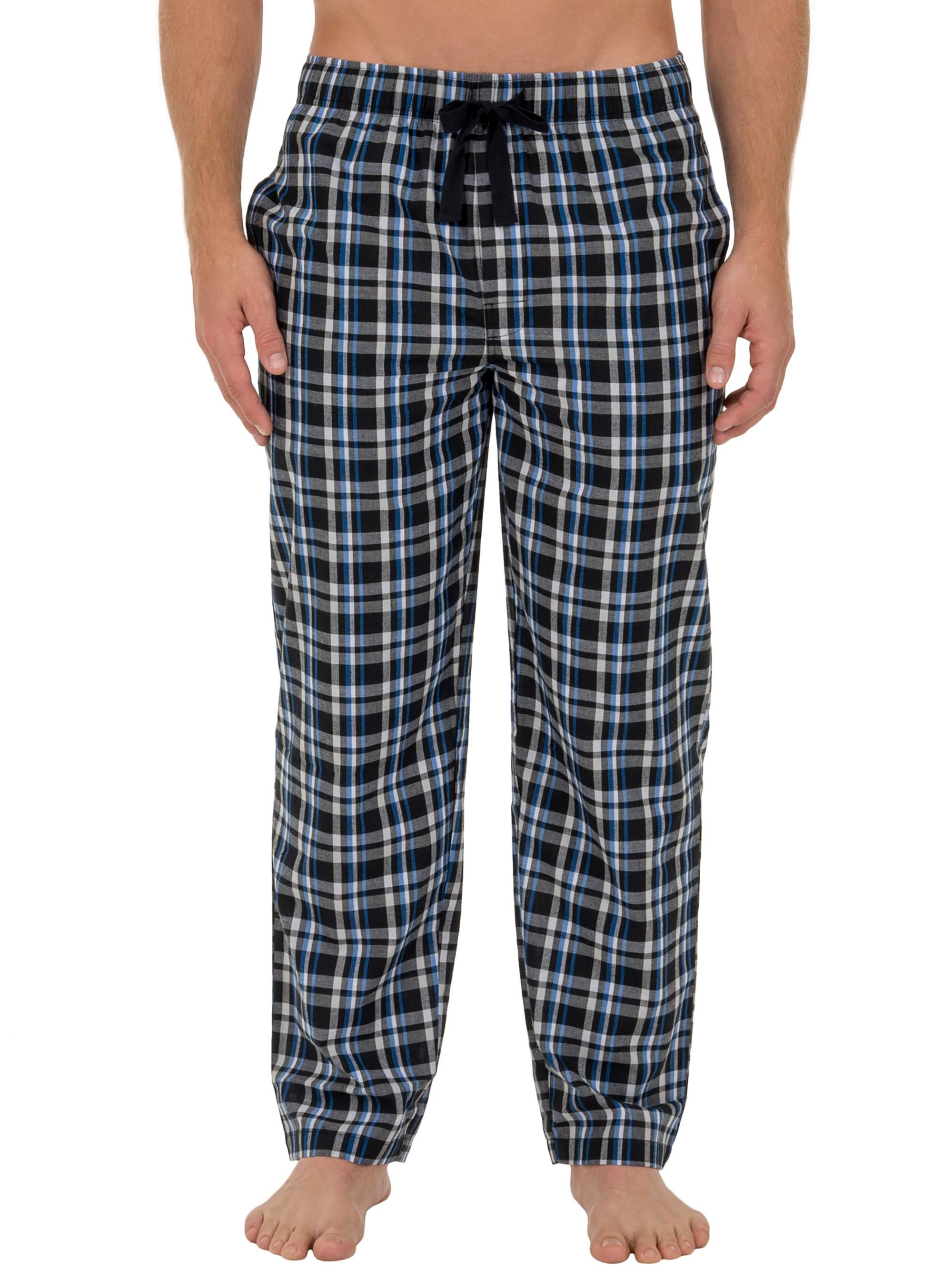 Fruit of the Loom Big Men's Microsanded Woven Plaid Sleep Pant