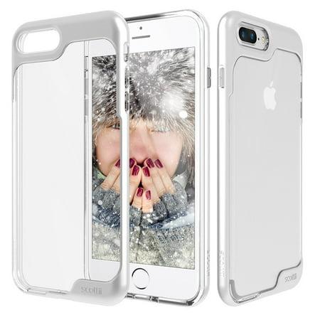 iphone 7 plus silver clear case iphone 10 scottii priism clear case for iphone plus metallic silver silver