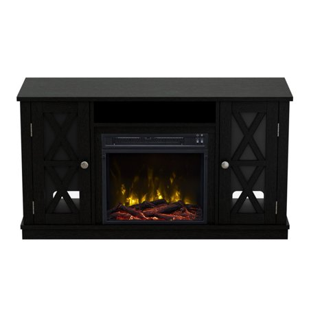 classic flame bayport 55 in tv stand with electric fireplace. Black Bedroom Furniture Sets. Home Design Ideas