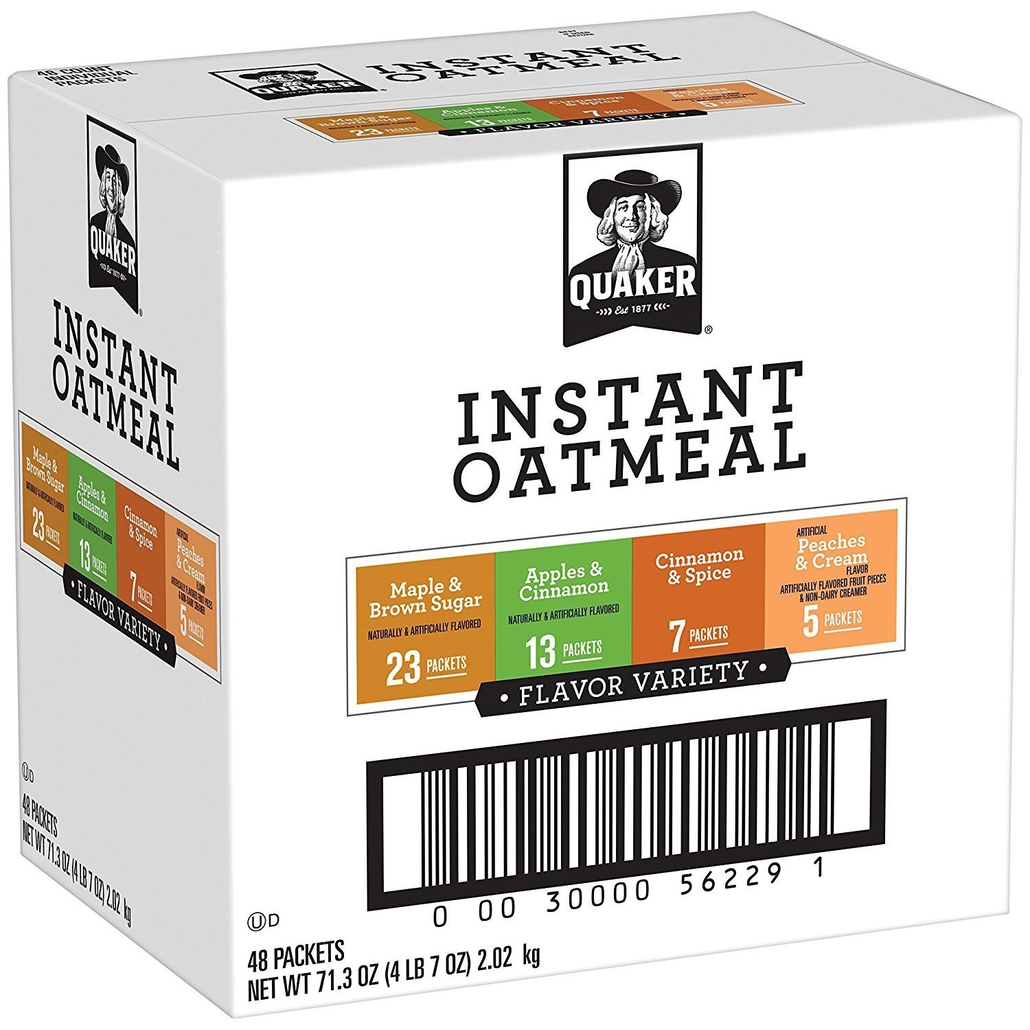 Quaker Instant Oatmeal, Flavor Variety Pack, 48 Packets