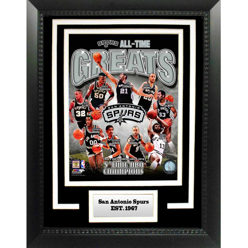 "NBA San Antonio Spurs Greats 11"" x 14"" Deluxe Frame"