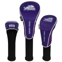 TCU Horned Frogs Driver Fairway Hybrid Set of Three Headcovers