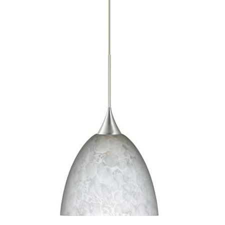 Besa Lighting 1XT-757019-LED Sasha 1 Light LED Cord-Hung Mini Pendant with Carre
