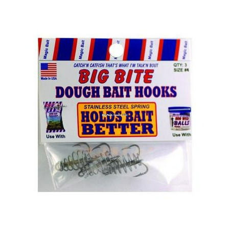 Magic Bait 32-48 Big Bite Dough Bait Hooks 3 Pack #6 Treble Hooks Fishing Lure