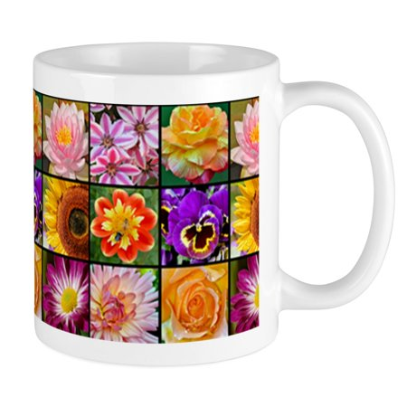 CafePress - Colorful Flower Collage Mugs - Unique Coffee Mug, Coffee Cup (Collage Coffee)