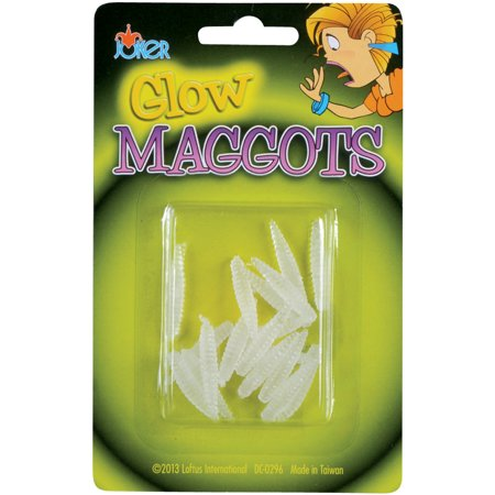 Loftus Glow In The Dark Maggots 18pc Decoration Prop Prank, Green](Pranks To Play On Friends On Halloween)