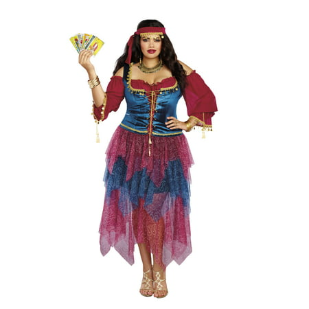 Dreamgirl Women's Plus-Size Gypsy Costume - Gypsy Woman Costume