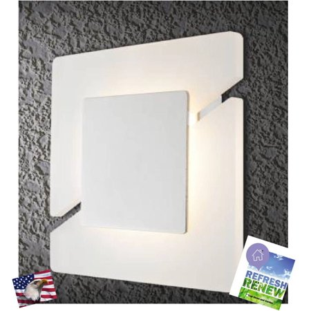 iLett 12 Watts Acrylic Wall Sconce LED Light, 2 Sided Diagonal Design, Modern and Architectural Fixture, Instant on, 960lm, 5000K - 5200K (Cool White),100V-277V ()
