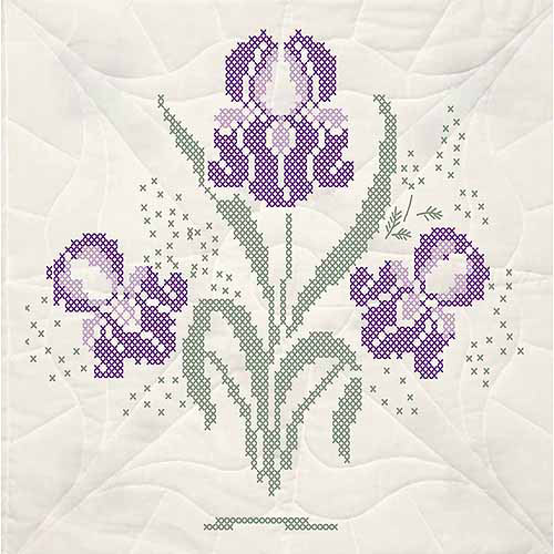 "Fairway Needlecraft Stamped Quilt Blocks, 18"" x 18"", 6pk"