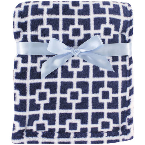 Luvable Friends Baby Boy and Girl Coral Fleece Blanket - Trellis