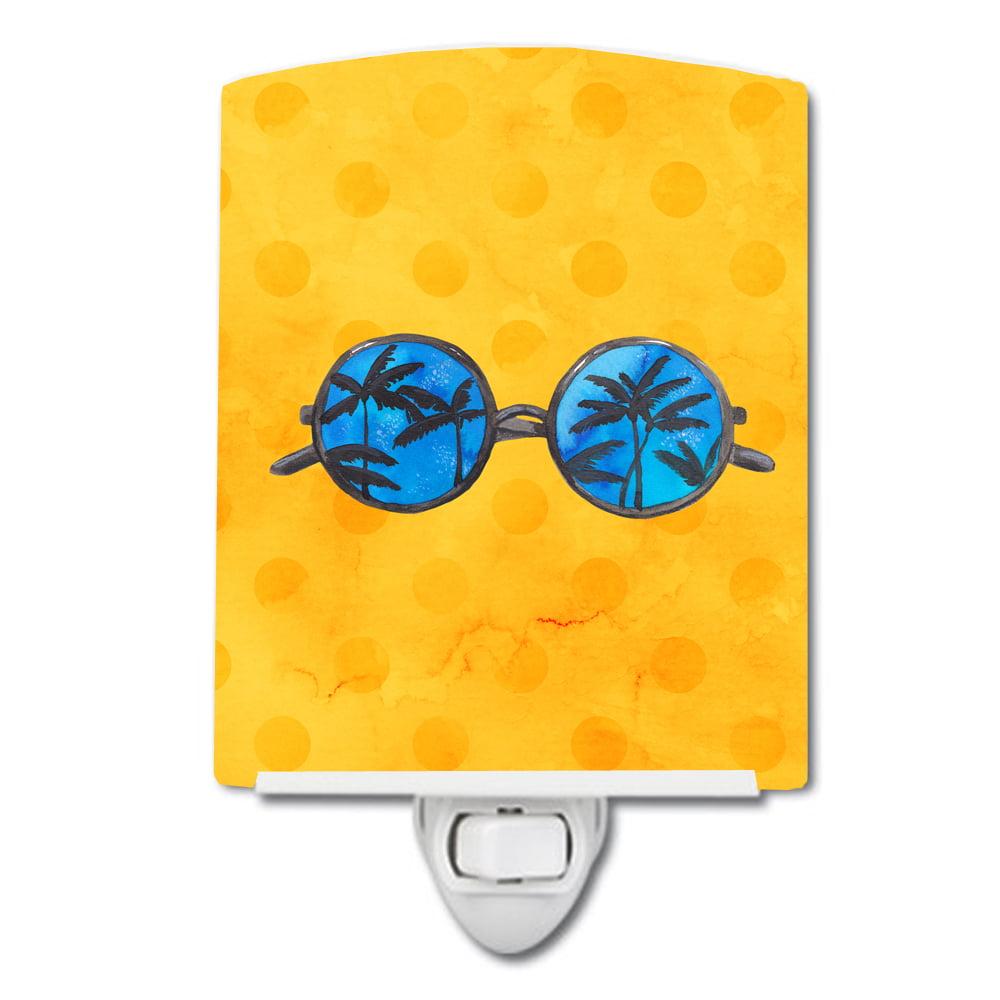 Sunglasses Yellow Polkadot Ceramic Night Light