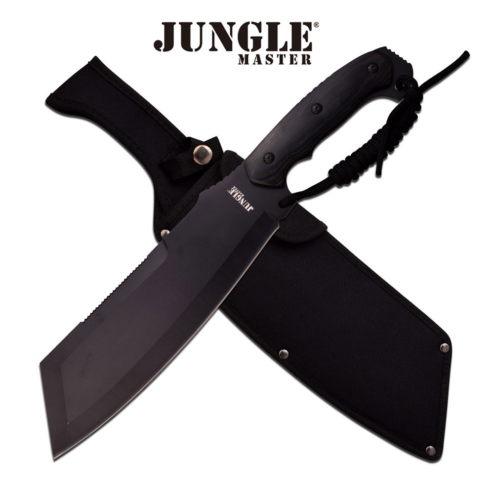Jungle Master Machete 15.75in w Black Pakkawood Handle by Master Cutlery