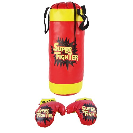 Boxing Children's Kid's Pretend Play Toy Boxing Play Set w/Stuffed Punching Bag, Pair of Soft Padded Boxing Gloves, Kids - Hunting Toys For Kids