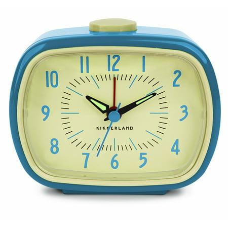 - Kikkerland Retro Alarm Clock, Blue