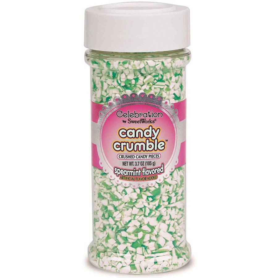 Celebrations By SweetWorks Candy Crumble 3.7oz-Green & White, Spearmint