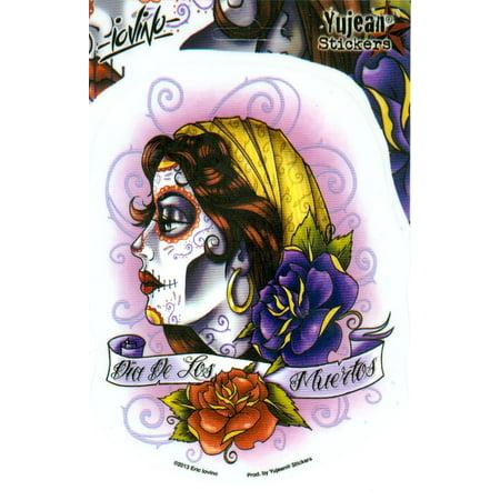Eric Iovino - Dia De Los Muertos Sugar Skull Girl - Sticker / Decal for $<!---->