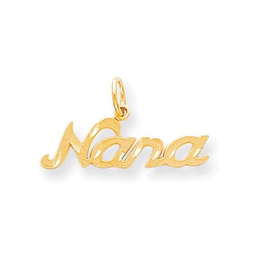 10k Yellow Gold Nana Pendant
