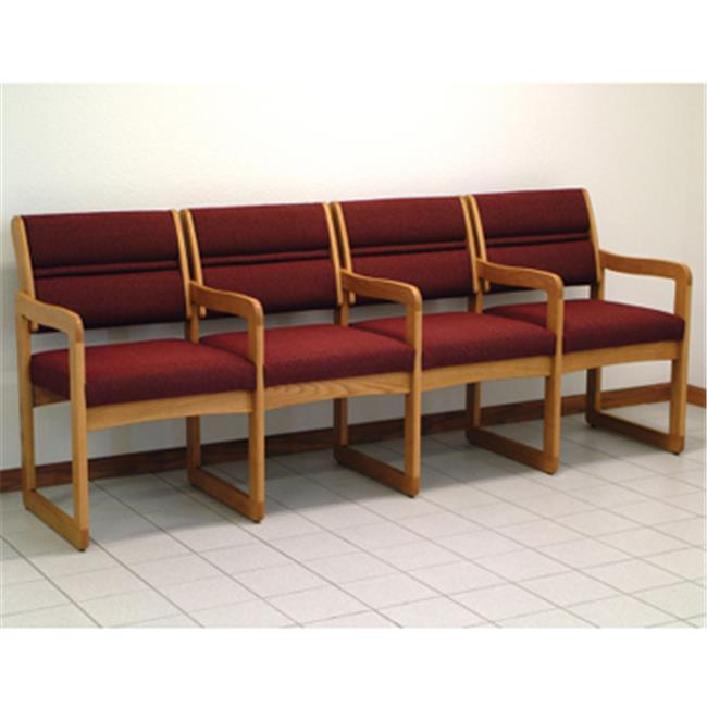 Wooden Mallet DW1-4DMOLW Valley Four Seat Chair with Cent...