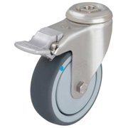 Value Brand Kingpin Swivel Caster,Therm Rubber,4 in,240 lb,Gry, LKRXA-TPA 101KD-FK