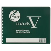 Scorebook, Mark V, Basketball, Simple Way to Keep Track of Basketball Scoring, Spiral Bound, 30 Game Scorebook, Basketball Coach Supplies, Best Way.., By Cramer