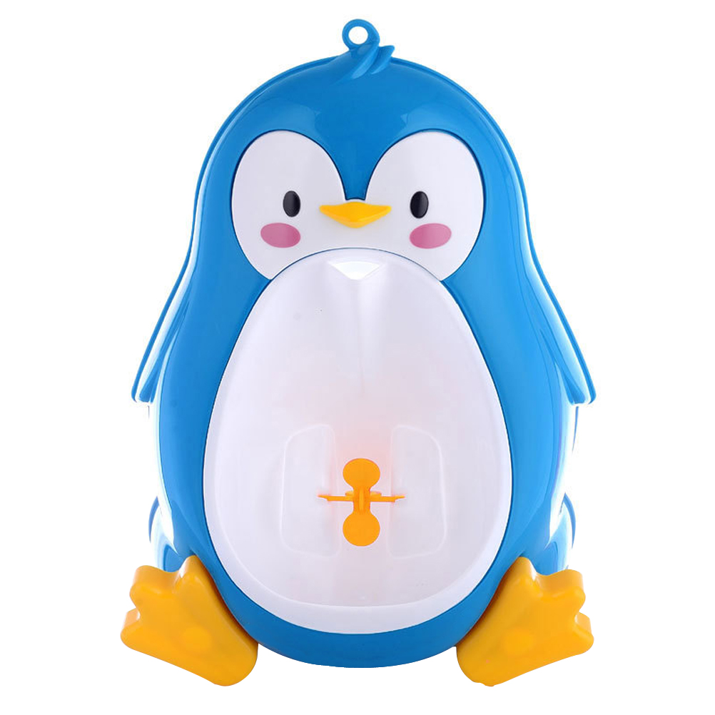 Baby Boys Penguin Design Wall Mounted Toilet Potty Training Kids Toddler Urinal Bathroom Pee Trainer (Black) by Pixnor