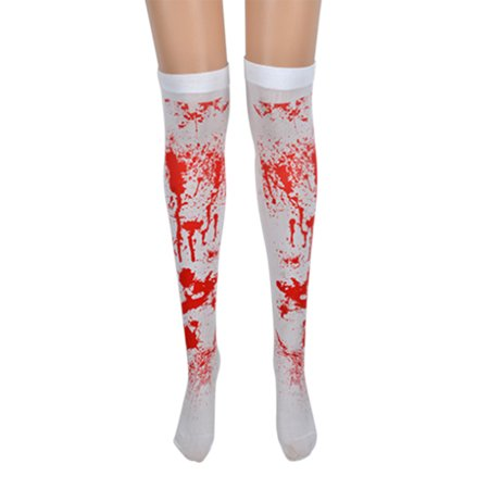 Women Thigh Stockings with Blood Splash/Cross Pattern for Cosplay Show Costume Party Halloween Masquerade Party](Spiderman Cosplay For Sale)