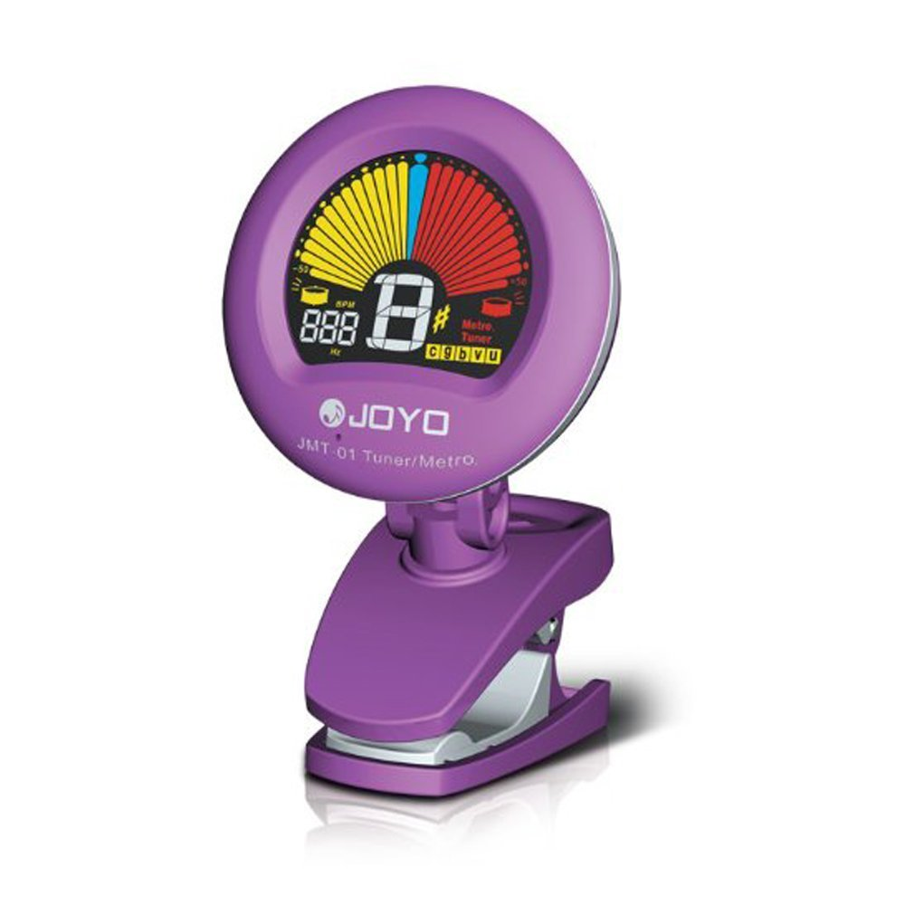 JOYO JMT-01 Clip on Tuner & Metronome with Color Display for Guitar, Bass, Violin, Ukulele and More