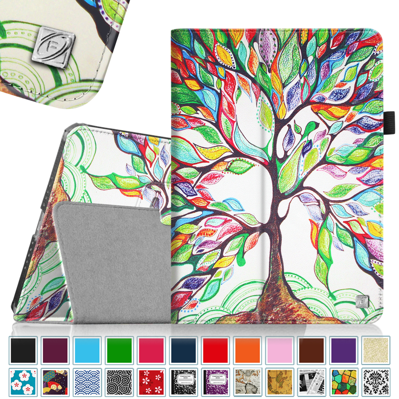 iPad Air 2 Case - Fintie Slim Fit Leather Folio Cover with Auto Sleep / Wake, Love Tree
