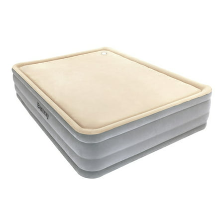 Bestway Foam Top Comfort Raised Airbed, Queen (Best Way To Clean Soft Top Roof)
