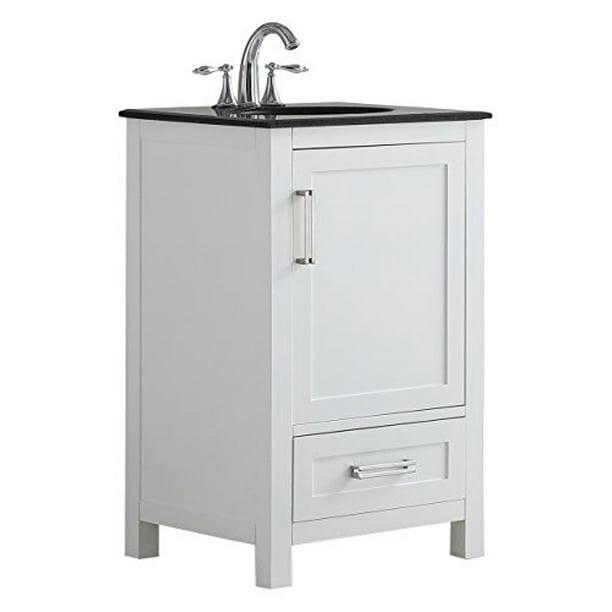 Simpli Home Evan 20 Bath Vanity With Black Granite Top Walmart Com Walmart Com