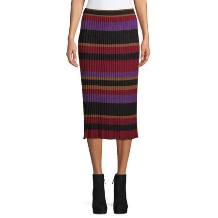 Sui by Anna Sui Women's Striped Knit Skirt Knit Tulip Skirt