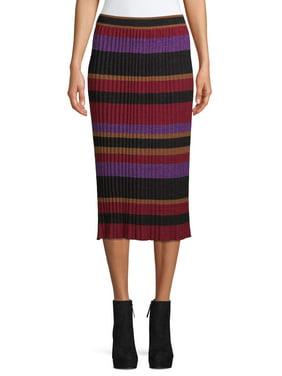 Women's Striped Knit Skirt
