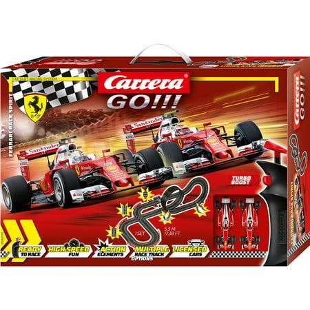 Carrera GO!!! Ferrari Race Spirit 1:43 Scale Electric Slot Car Race Track Set featuring Two Ferrari SF16-H Formula 1 Vehicles (Carrera Preise)