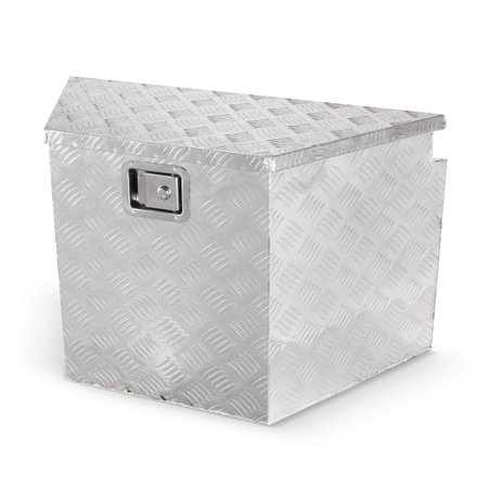 ARKSEN Underbody Trailer Truck Pickup Underbed Aluminum Tongue Storage Tool Box, Silver