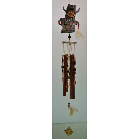 - Great World Warrior Wolf Indian Wind Chime