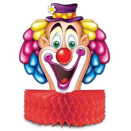 The Party Aisle Circus Clown Centerpiece Bust