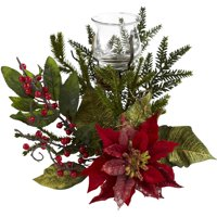 Nearly Natural Poinsettia Candelabrum