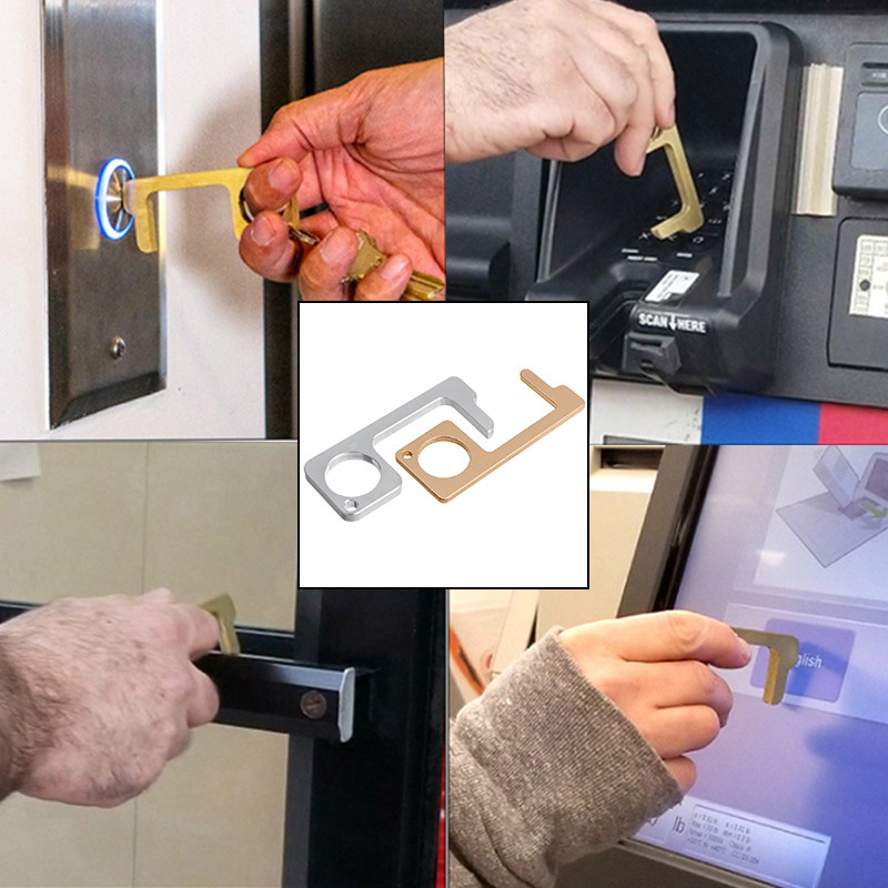 Magic grip handle opens contactless door anti microbe hygienic portable