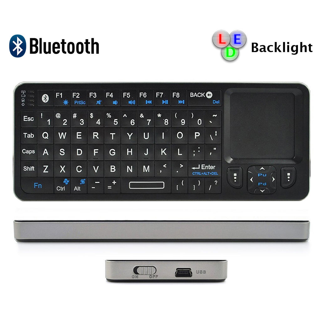 Rii Mini I6 Bluetooth Wireless Keyboard with Mouse Touchpad / Universal Infrared Remote Controller with Learning Function