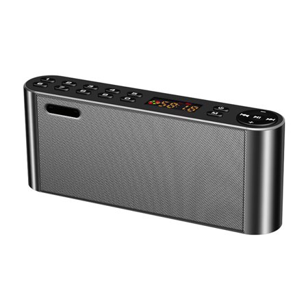 TechComm Q8 Bluetooth Speaker with Dual 3W Speaker, Powerful Battery, MicroSD Card Support and Auxiliary Input for Wired Devices